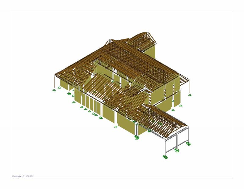 Structural model - Wood framed residential structure